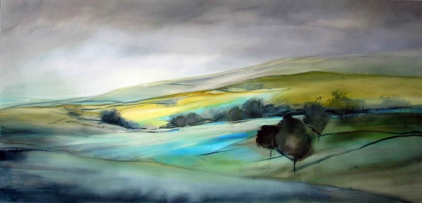 Landscape Blue-Oil Painting-180x85cm