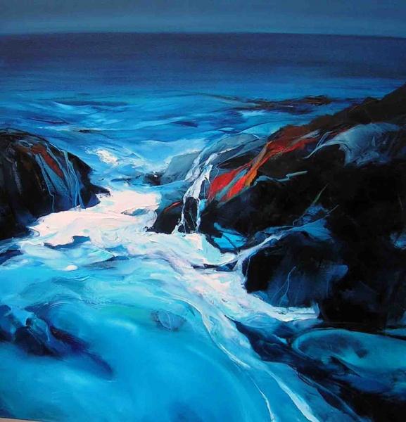 Ocean-Oil Painting-92x92cm