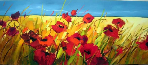 Finished Parading Poppies Oil Painting_Sara Paxton Artworks