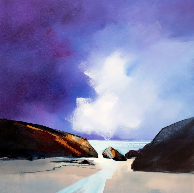 Between the Rocks - 92x92cm
