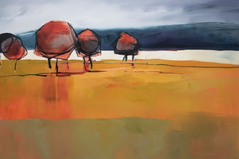 Red Trees - 150x100cm