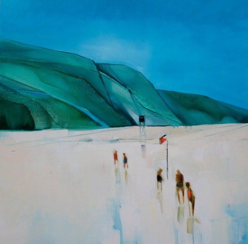 The Bathers - 92x92cm