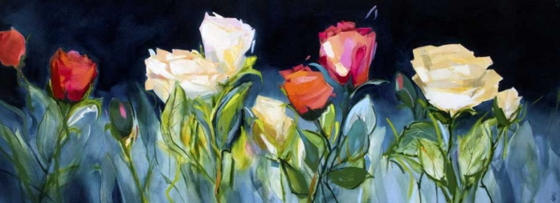 Perfect Roses 160x60cm Oil Painting