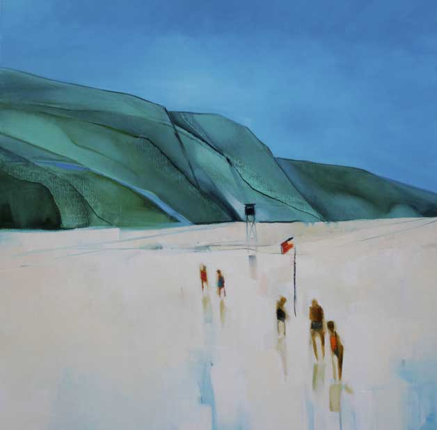 The Bathers 92x92cm Oil Painting
