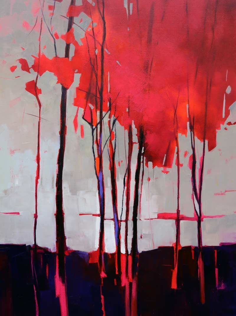 Red Canopy-90x120cm