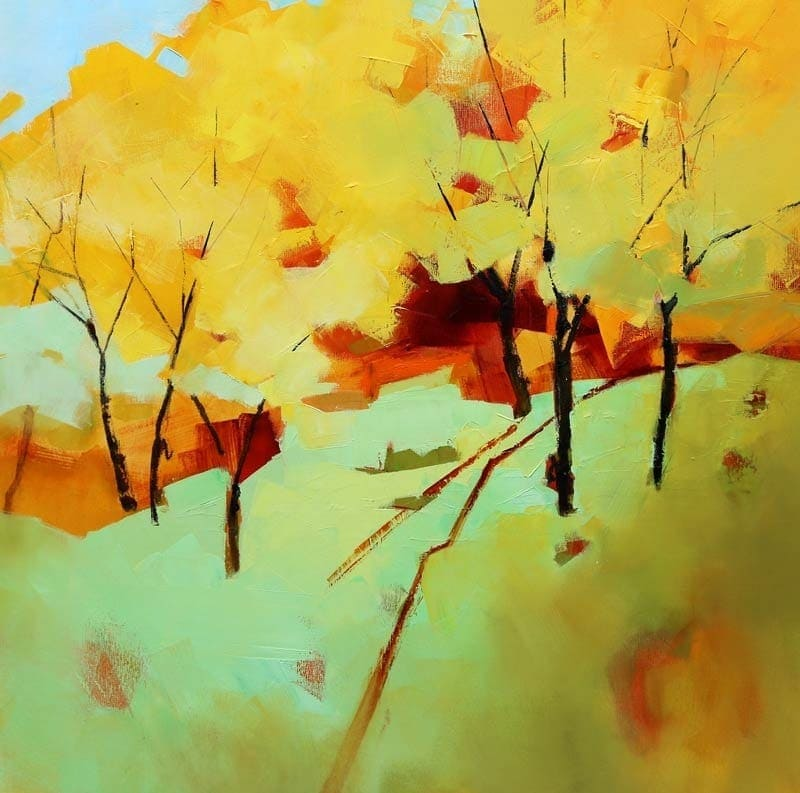 Spring Trees-92x92cm