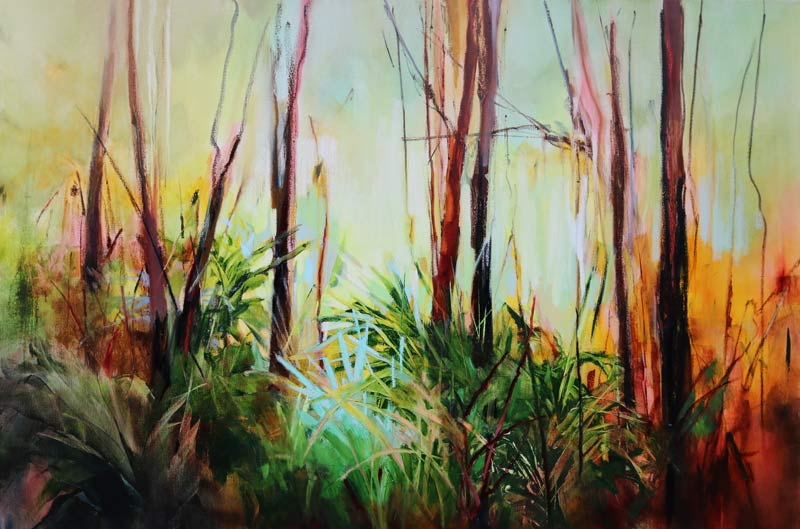 Forest Ferns - 150x100cm