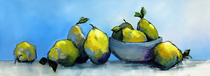 Pears with Bowl - 160x60cm