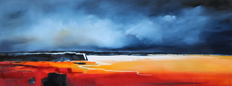 Black Rock Beach 160x60cm Sara Paxton Artworks