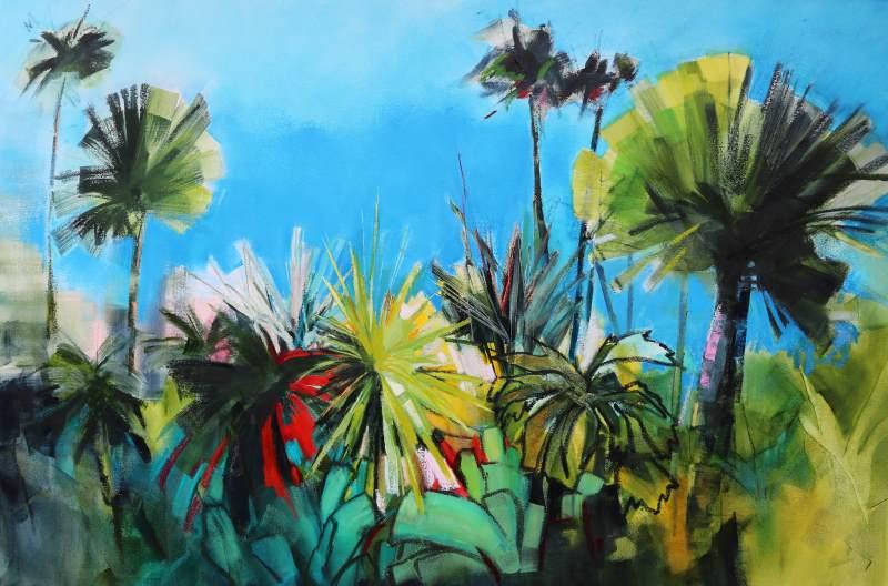 Garden Paradise 150x100cm Sara Paxton Artworks