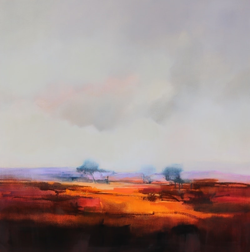 Earth Red 106x106cm Oils on Canvas by Sara Paxton