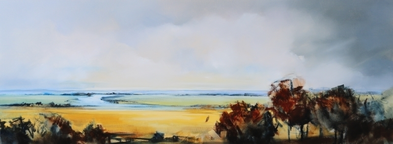 Estuary Landscape by Sara Paxton Artworks