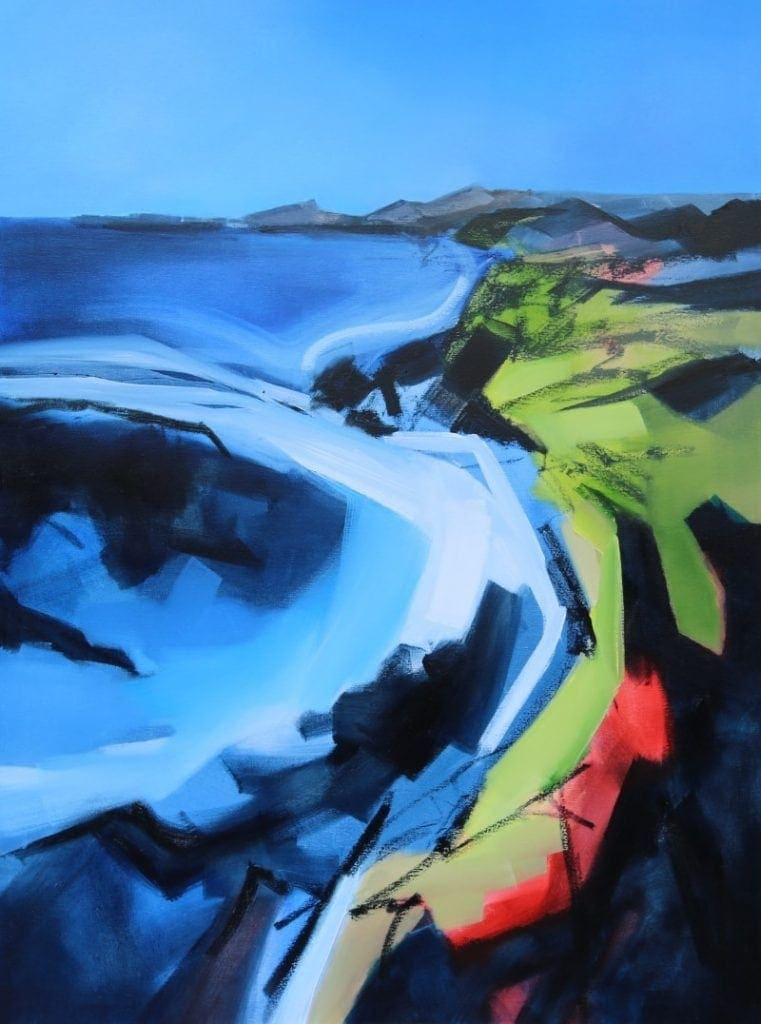 White Tide 90x120cm Oils on Canvas by Sara Paxton Artworks