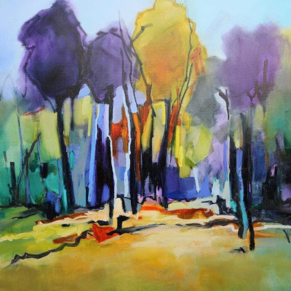 Trees in Colour - 106x106cm