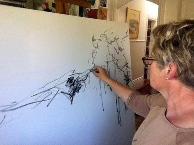 Sara Paxton Artworks-Sara Painting