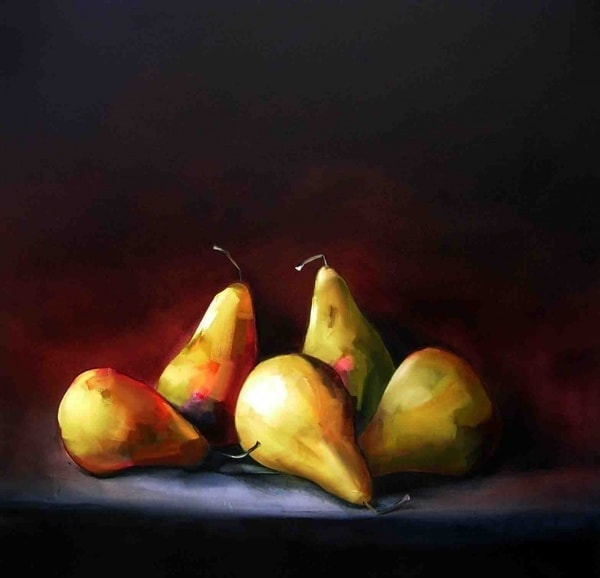Sultry Pears - 106x106cm