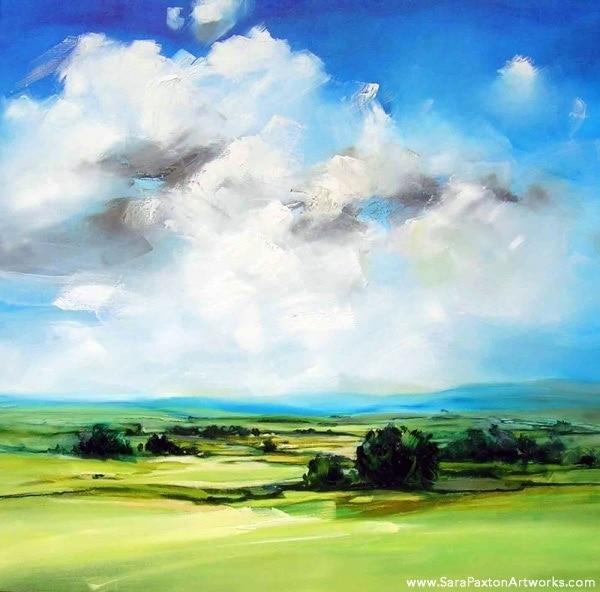 Green Pastures 106x106cm