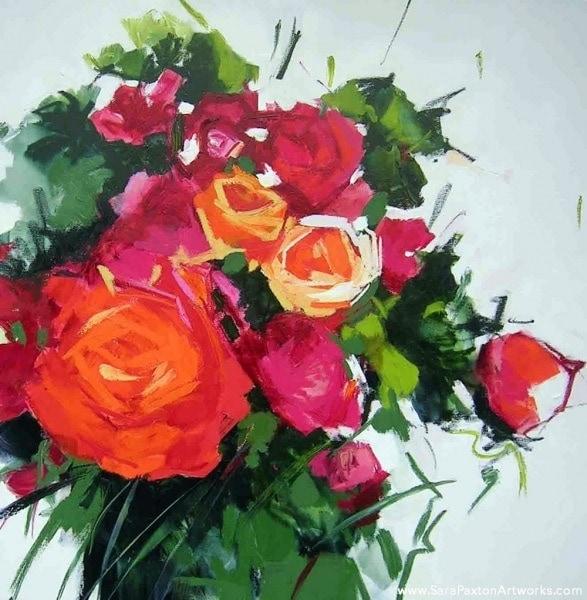 Rose   92x92cm   Sara Paxton Artworks