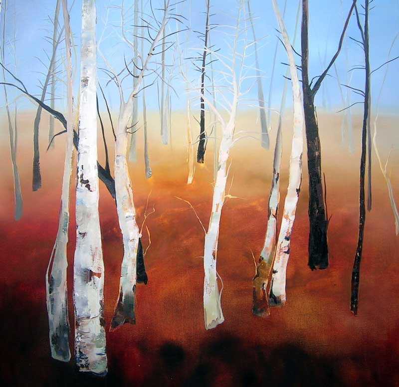 Winter Trees | 92x92cm - Sara Paxton Artworks