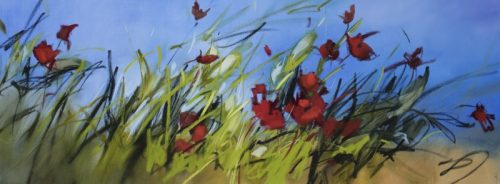 Poppies in the Breeze by Sara Paxton Artworks
