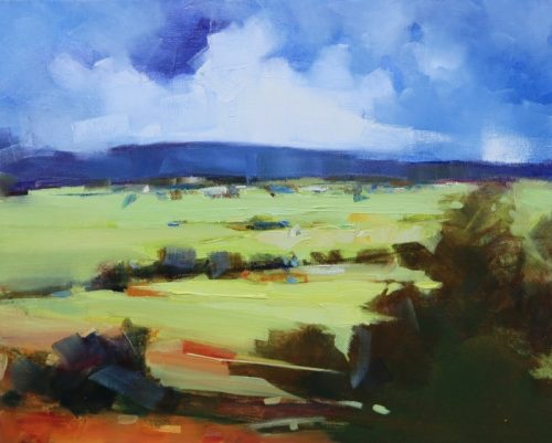 Fields of Green 51cm wide x 41cm high by Sara Paxton Artworks
