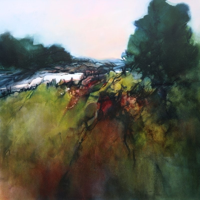 Ascending 106x106cm by Sara Paxton