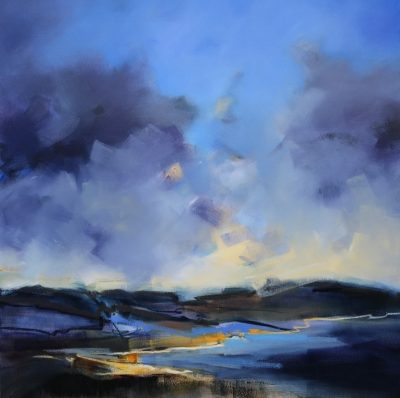 Coastal Light 106x106cm by Sara Paxton
