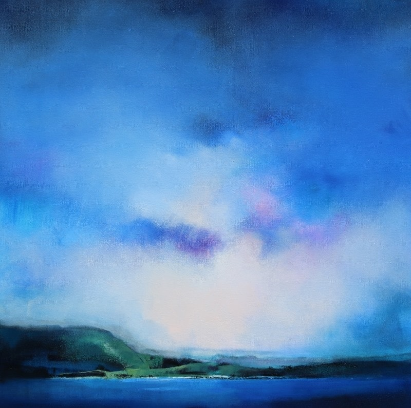 Escarpment 92x92cm by Sara Paxton