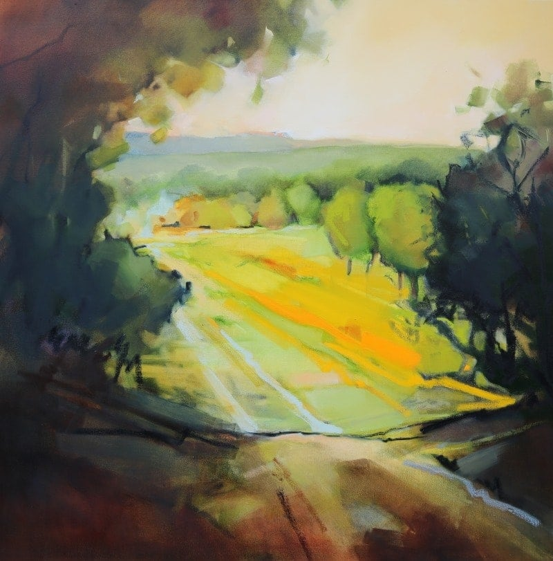 Shadows and Light 106x106cm by Sara Paxton