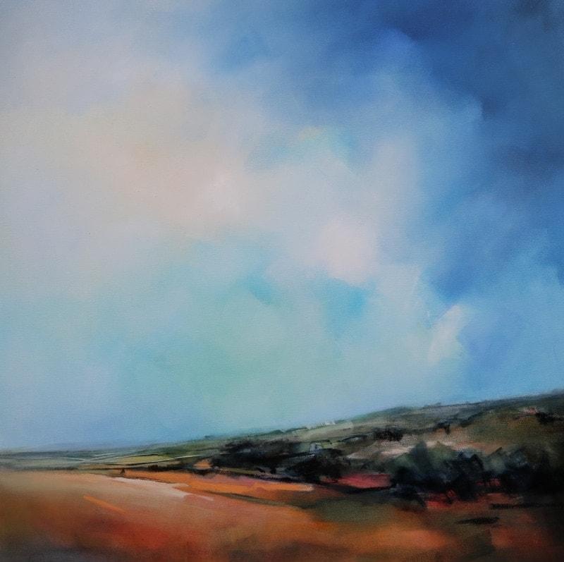 Summer Landscape 122x122cm by Sara Paxton