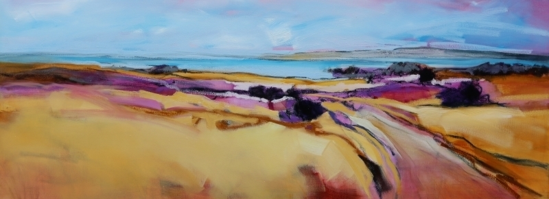 Fields of Colour 160x60cm by Sara Paxton