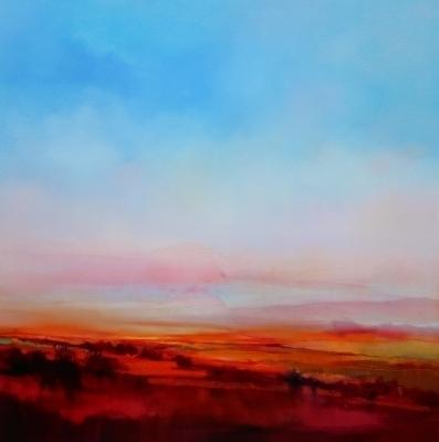 Pink Fantasy 92x92cm by Sara Paxton