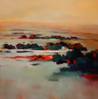 Red Hot Day 106x106cm by Sara Paxton