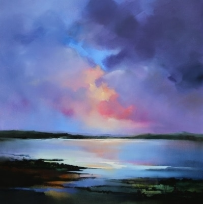 Sunset on the Bay 106x106cm by Sara Paxton
