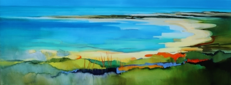 View to the Sea 160x60cm by Sara Paxton